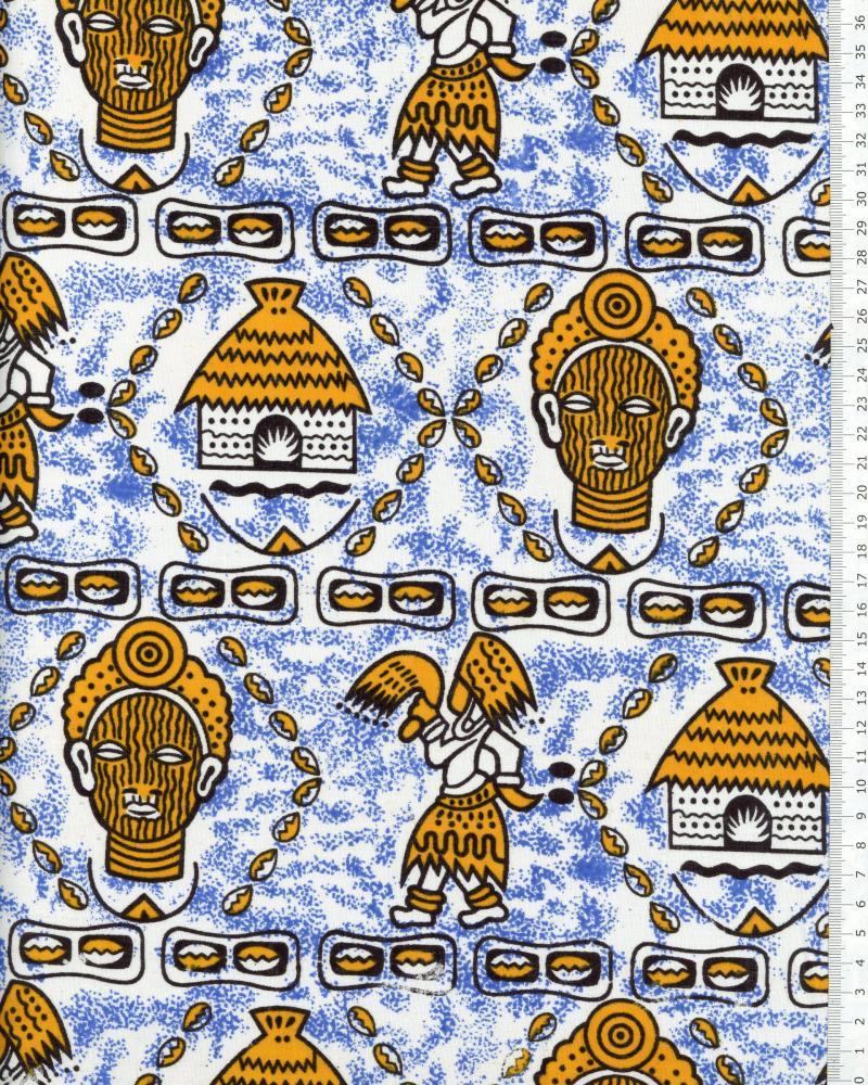 Véritable WAX - Tissu Africain Windhoek Jaune - Tissushop