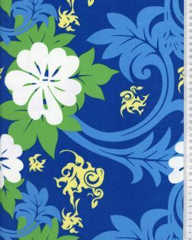 Tissu Polynésien MARUIA Bleu - Tissushop