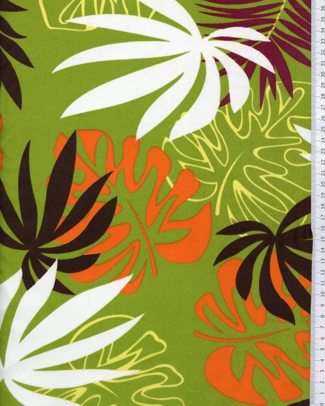 Tissu Polynésien MOEAVA Vert - Tissushop