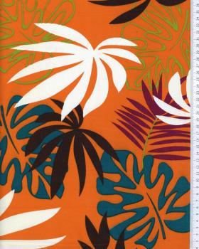 Tissu Polynésien MOEAVA Orange - Tissushop