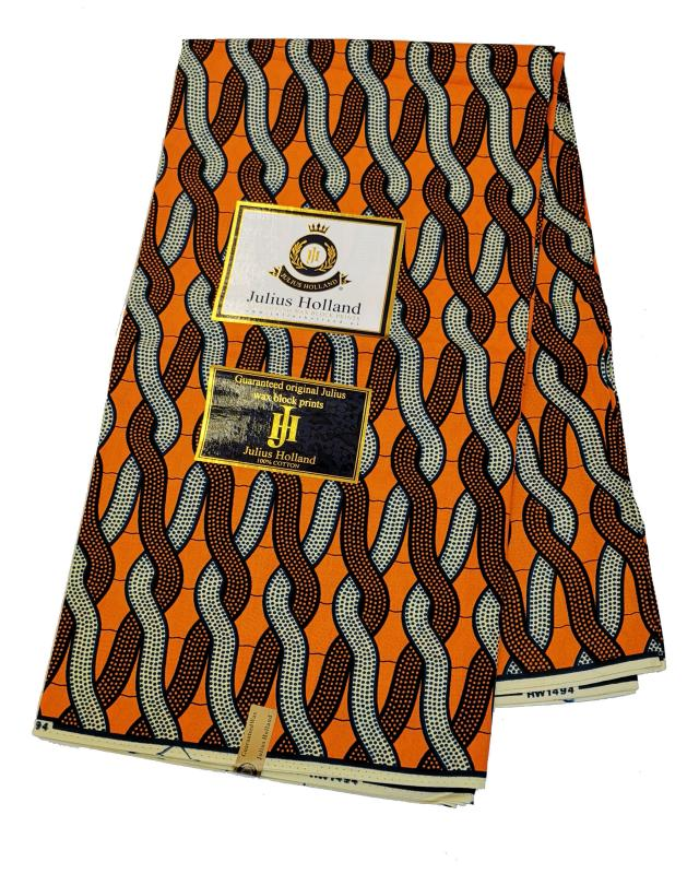 Wax print julius Holland RW1494 Orange - Tissushop