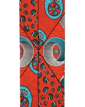 Wax print julius Holland RW1504 Corail - Tissushop