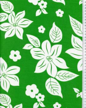Tissu Polynésien NANIHI Vert - Tissushop