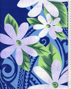 Tissu Polynésien POEMA Violet - Tissushop