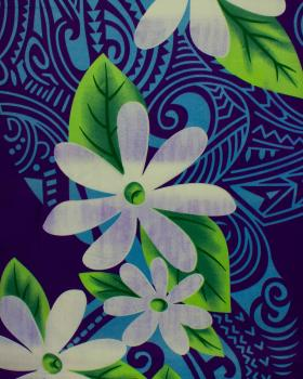 Polynesian Fabric POEMA Purple - Tissushop