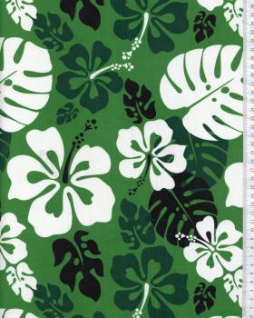 Tissu Polynésien RUITA Vert - Tissushop