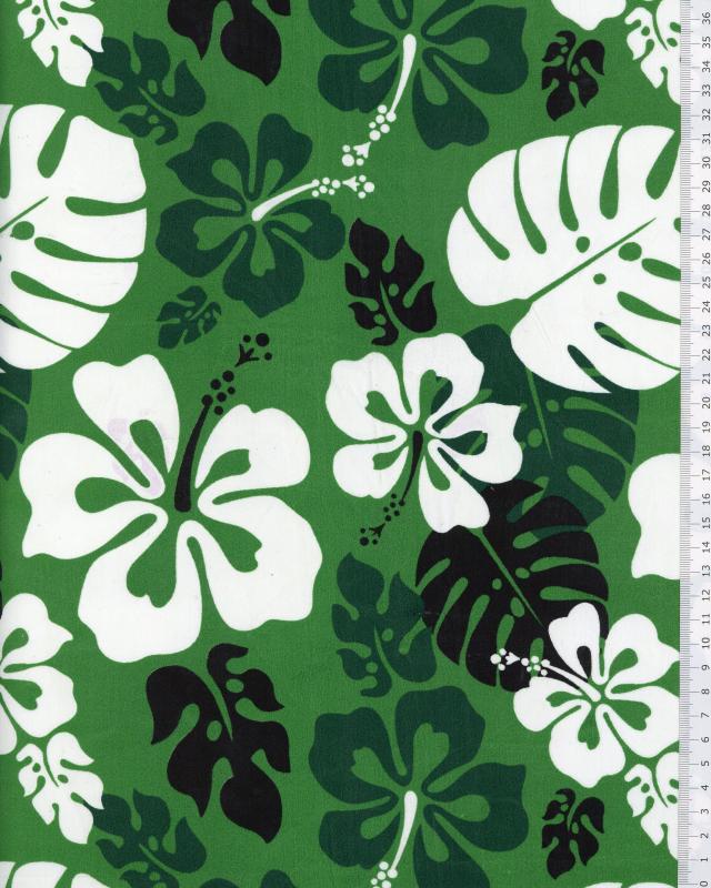 Polynesian Fabric RUITA Green - Tissushop