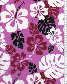 Tissu Polynésien RUITA Violet - Tissushop