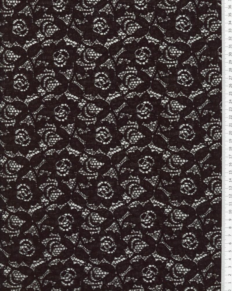 Maria cotton lace Black - Tissushop