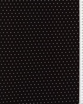 Jersey à pois blanc / Noir - Tissushop