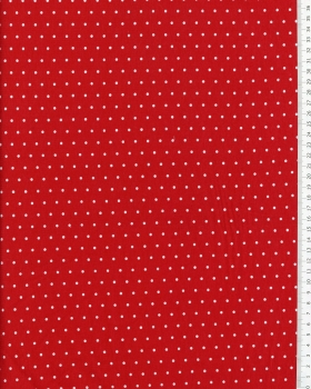 Jersey à pois blanc / Rouge - Tissushop