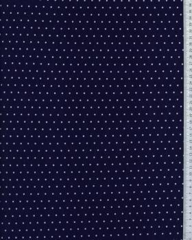 Jersey à pois blanc / Bleu Marine - Tissushop