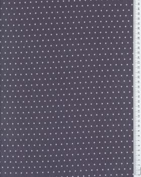 Jersey à pois blanc / Gris - Tissushop