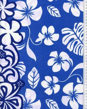 Tissu Polynésien TEHEIURA Bleu - Tissushop