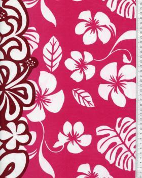 Tissu Polynésien TEHEIURA Rose - Tissushop