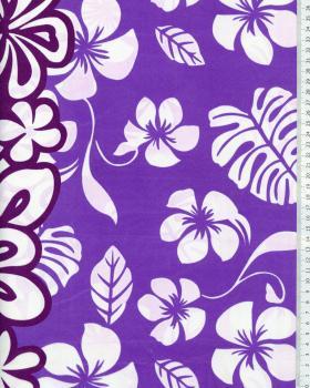 Tissu Polynésien TEHEIURA Violet - Tissushop