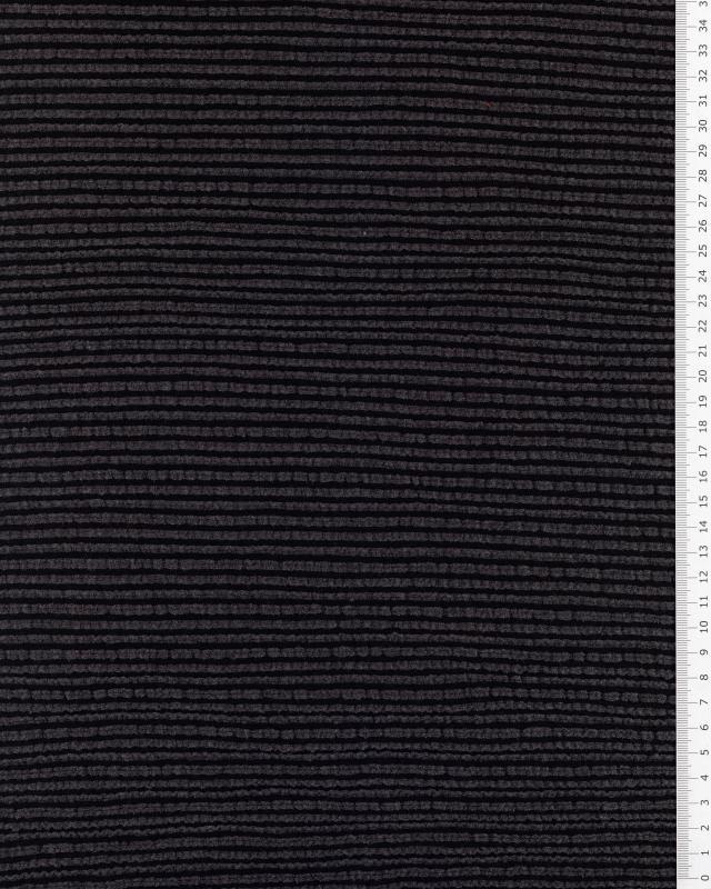 Viscose Structurée Noir - Tissushop