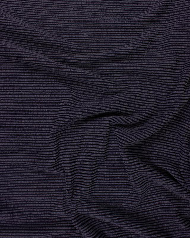 Structured Viscose Navy Blue - Tissushop