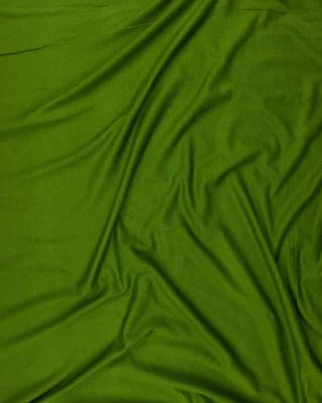 Plain viscose jersey Olive Green - Tissushop
