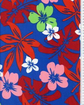 Tissu Polynésien HURA Bleu - Tissushop