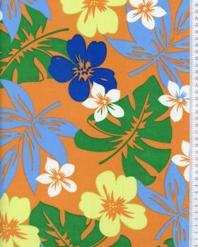 Tissu Polynésien HURA Orange - Tissushop