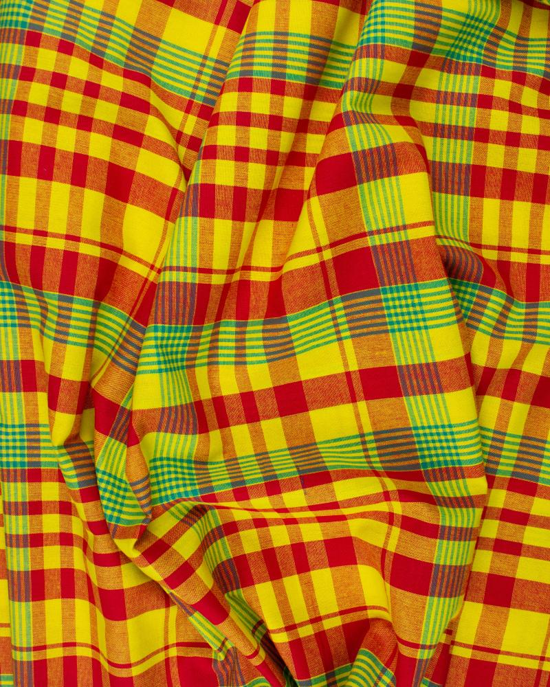 Antillean Madras Yellow and Red - Tissushop
