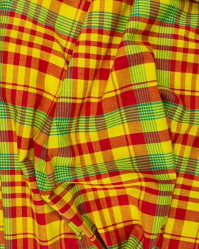 Madras Antillais Jaune et Rouge - Tissushop