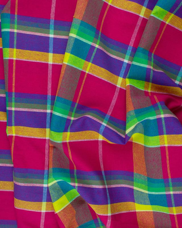 Madras traditionnel Rose - Tissushop