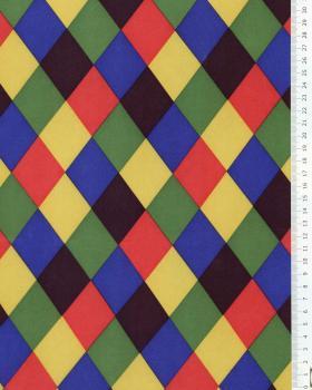 Satin imprimé Arlequin Multicolore - Tissushop