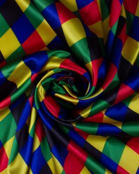 Arlequin printed satin Multicolor - Tissushop