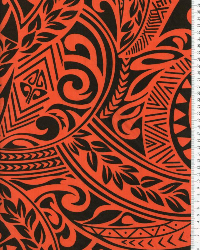 Polynesian Fabric MAUI Red - Tissushop