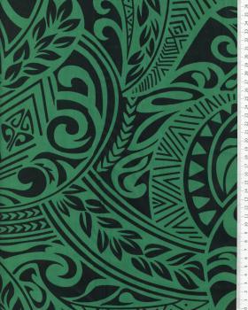 Polynesian Fabric MAUI Green - Tissushop