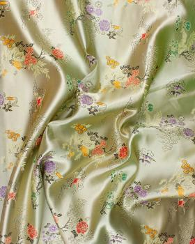 Satin jacquard nature asian Golden - Tissushop