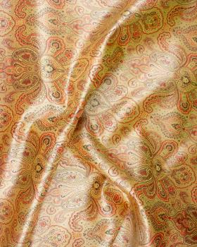 Indian paisley jacquard satin Golden - Tissushop