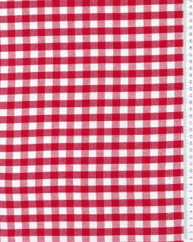 Vichy Cotton Large Check Red - Tissushop