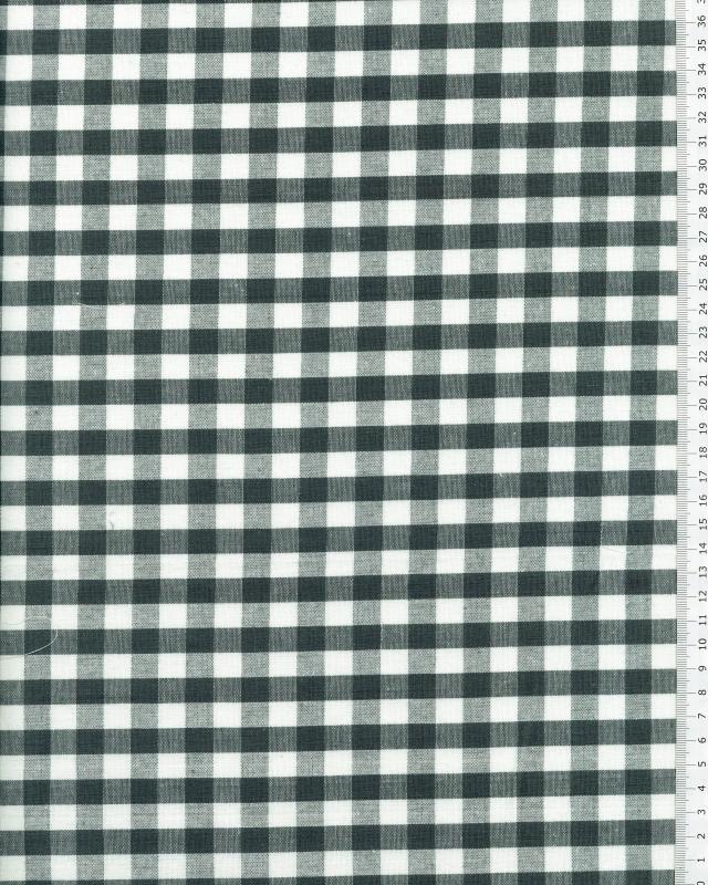 Coton Vichy grands carreaux Vert - Tissushop