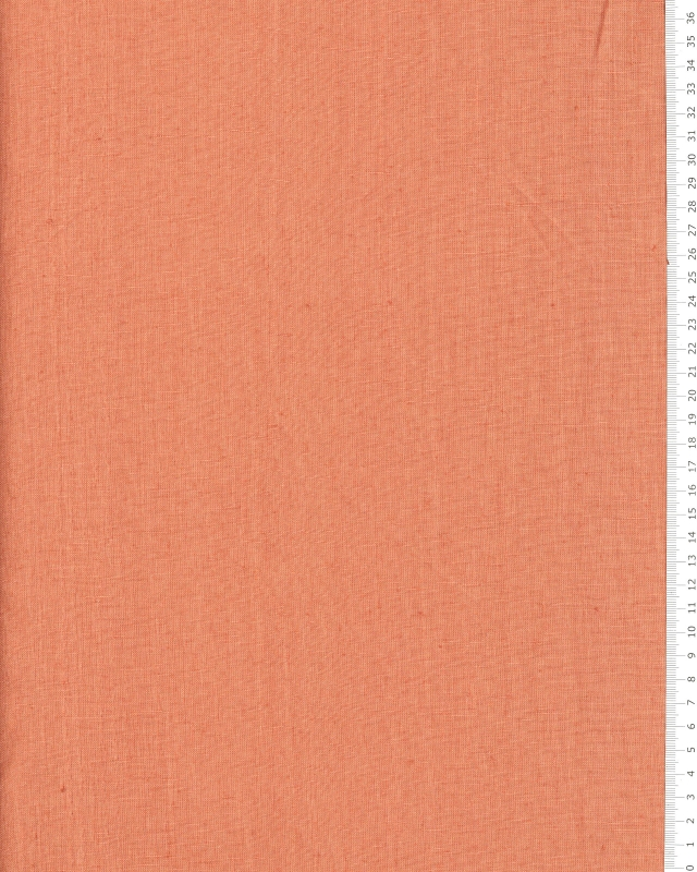 Washed linen fabric in 300 cm Peach - Tissushop