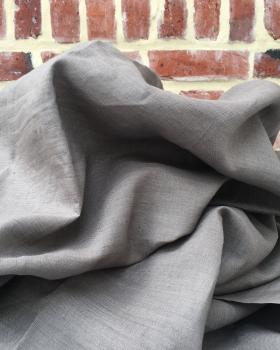 Washed linen fabric in 300 cm Taupe - Tissushop