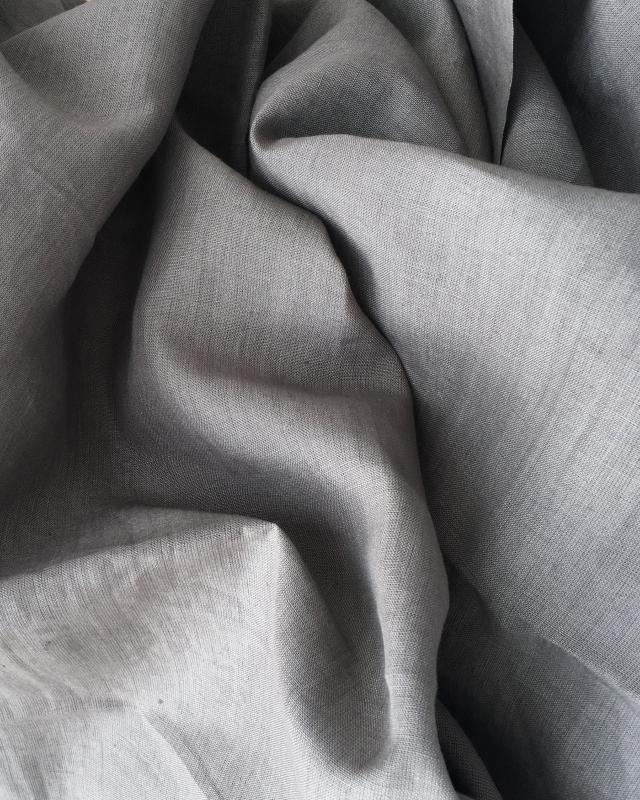 Toile de lin lavé en 300 cm Taupe - Tissushop