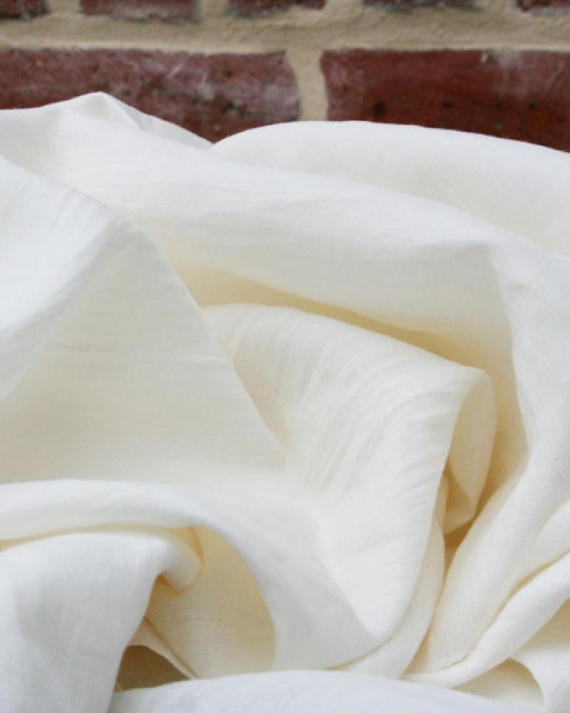 Toile de lin lavé en 300 cm Ivoire - Tissushop