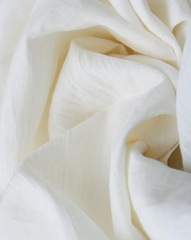 Washed linen fabric in 300 cm Ivory - Tissushop