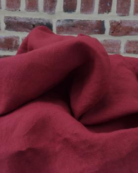 Washed linen fabric in 300 cm Red - Tissushop
