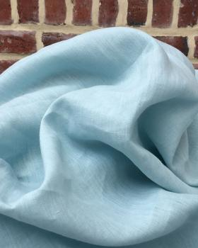 Washed linen fabric in 300 cm Light Blue - Tissushop