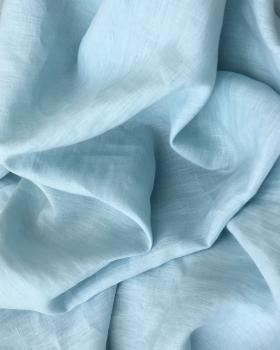Toile de lin lavé en 300 cm Bleu Ciel - Tissushop