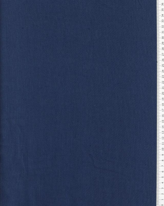Washed linen fabric in 300 cm Navy Blue - Tissushop