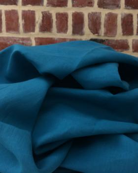 Washed linen fabric in 300 cm Touareg Blue - Tissushop