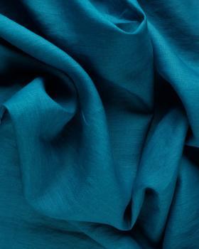 Toile de lin lavé en 300 cm Bleu Touareg - Tissushop