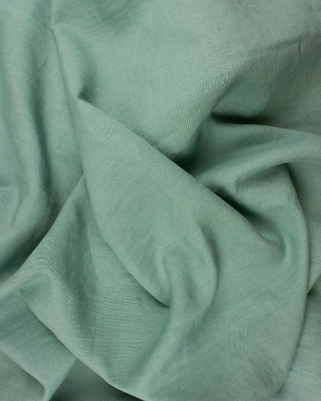 Washed linen fabric in 300 cm Eucalyptus Green - Tissushop