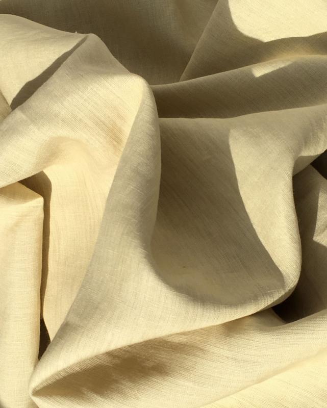 Toile de lin lavé en 300 cm Jaune Paille - Tissushop