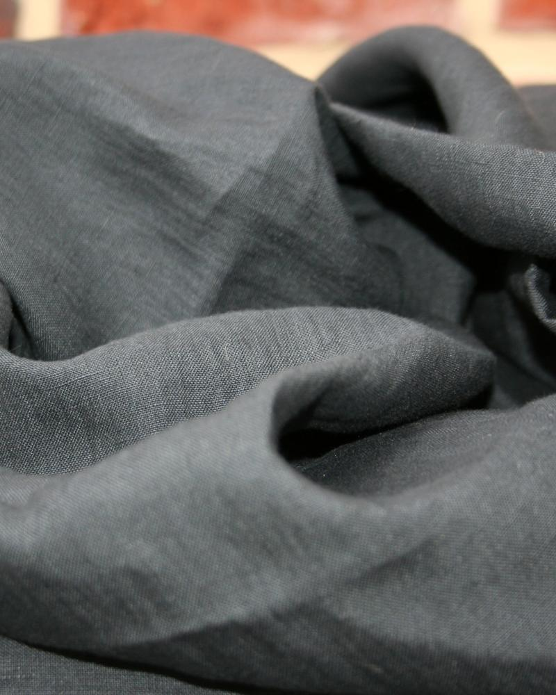 Washed linen fabric in 300 cm Dark Grey - Tissushop